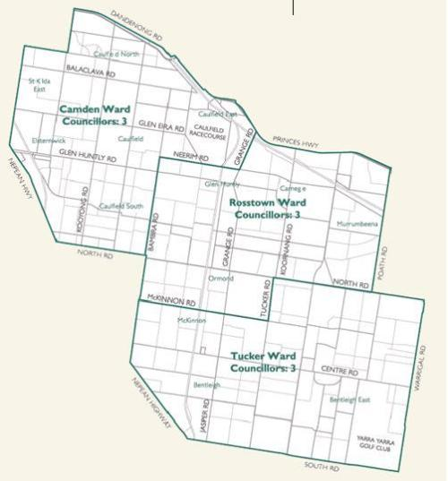 Glen Eira Ward Map