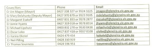 Councillor Contact Details0001