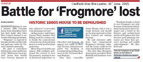 Leader on Frogmore Decision T