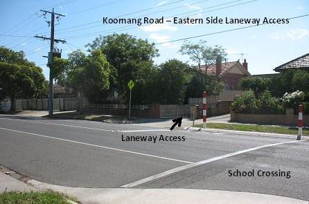 Eastern Side Laneway Access